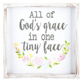 God's Grace In One Tiny Face Wood Wall Decor